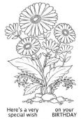 Woodware - Daisy Delight - Clear Magic Single Stamp - JGS566